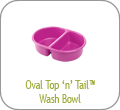 Oval Top 'n' Tail Wash Bowl