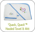 'Quack, Quack' Hooded Towel and Mitt